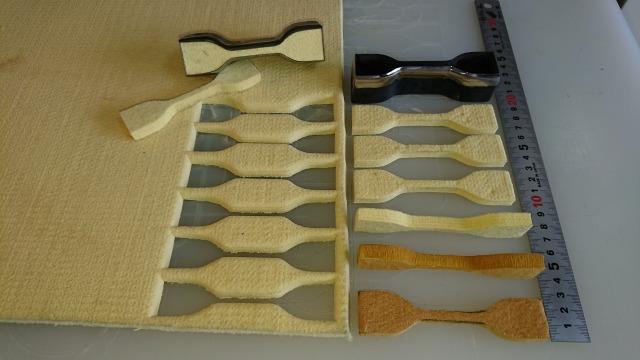 アラミド繊維、PBO(ザイロン)用試験片打抜刃